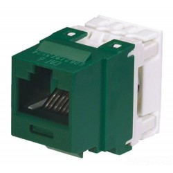 NK688MGR, Category 6, 8-position, 8-wire, keystone punchdown jack module. Green.