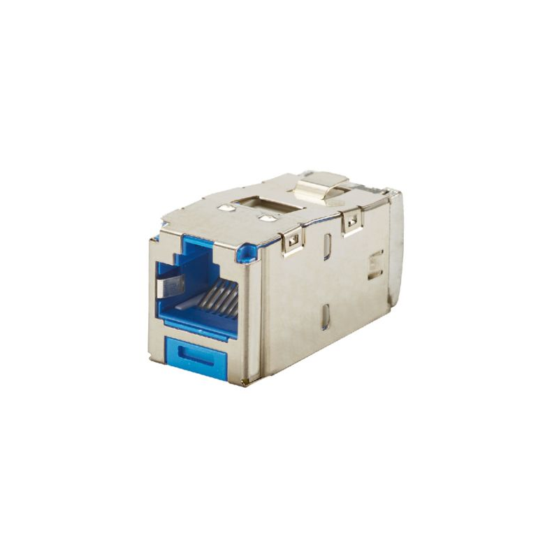 CJS6X88TGBUY, Category 6A, RJ45, 10 Gb/s, 8-position, blue, 8-wire universal shielded black module with integral shield