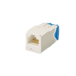 CJ6X88TGAW, Category 6A, RJ45, 10 Gb/s, 8-position, 8-wire universal module, Arctic White.