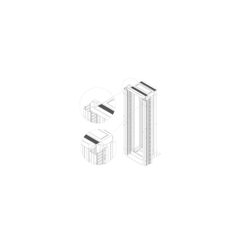 LN-KDG-OFR-42U135-BL, Аранжиращ панел 42UOpen frame, finger type W135
