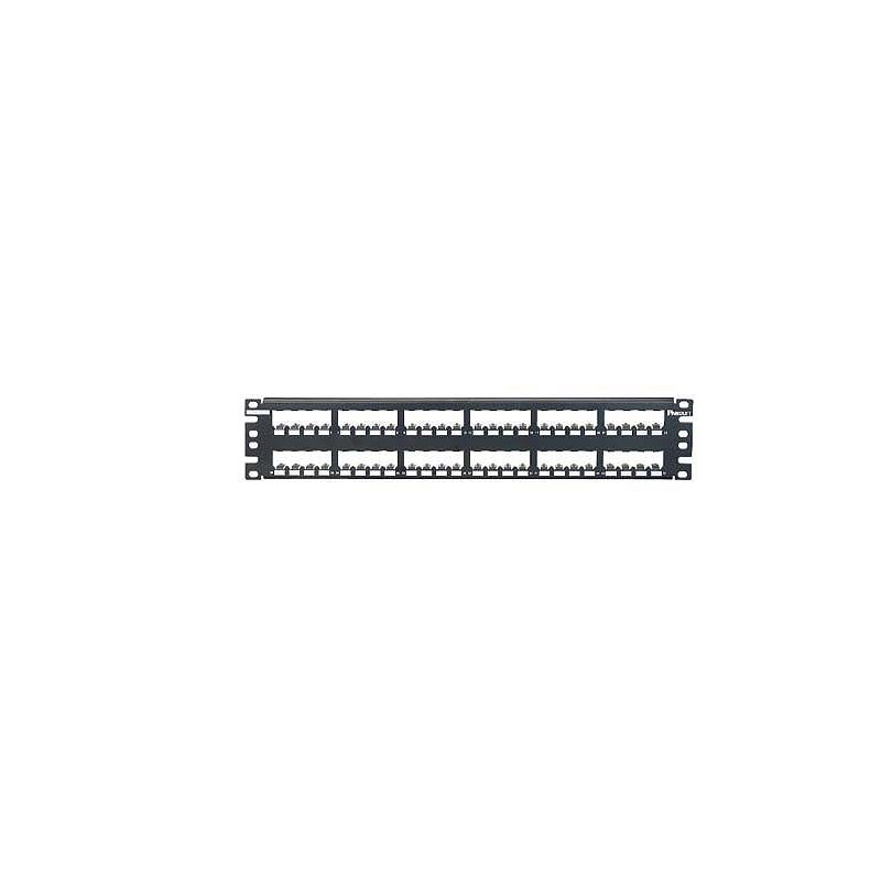 CP48BLY, Mini Com 48-port modular all metal shielded patch panel in black, (2 RU)