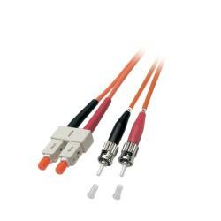 O6353.2, Оптична корда дуплекс 50/125 SC-ST, 2m LSZH EFB