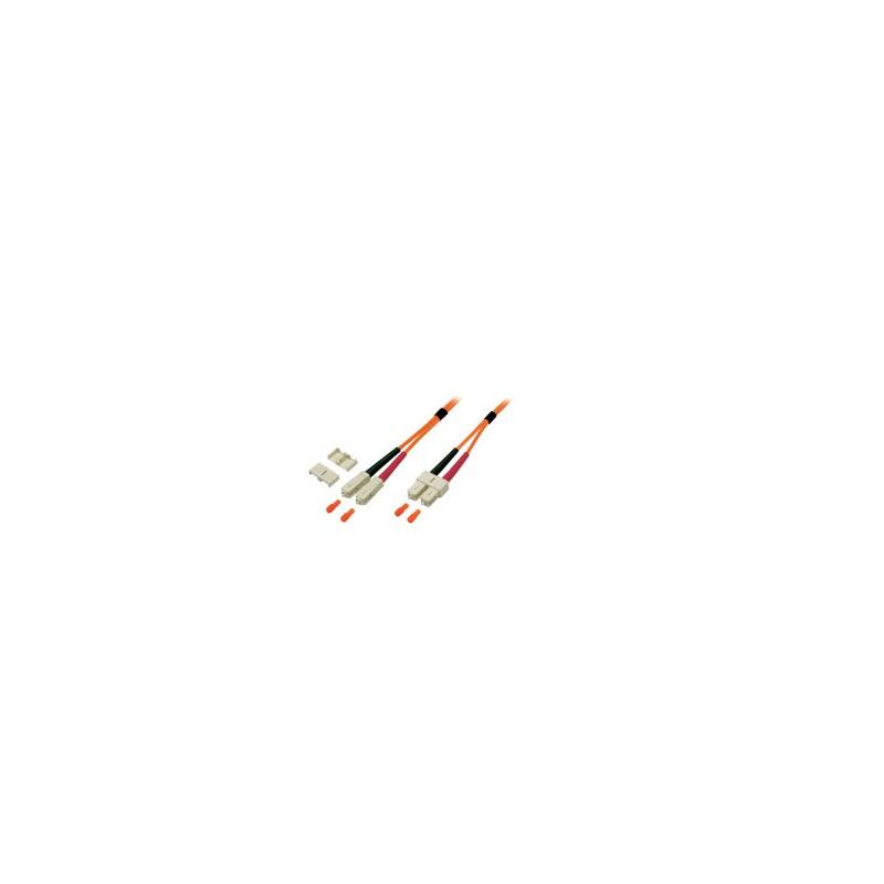 KF-5SCSC-01L, Оптична корда дуплекс 50/125 SC-SC, 1m, KF
