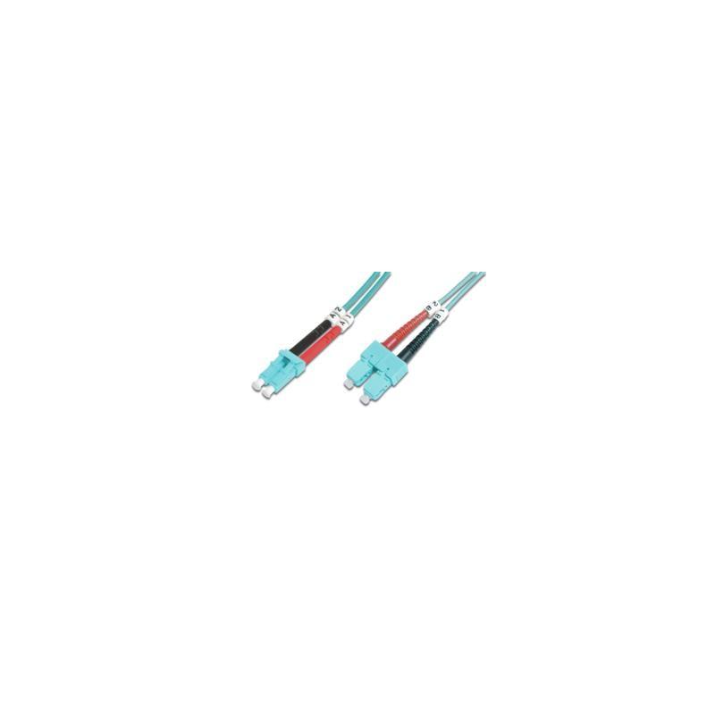 KF-3LCSC-02L, Оптична корда дуплекс 50/125 LC-SC (ОМ3), 2m