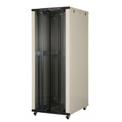 "LN-CK42U8010-BL, LANDE_CK, 42U 19"" Server Glass.Doors 800x1000mm"