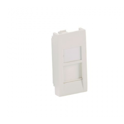 CFA1SAW-X, Mini-Com 22.5mm x45mm Flat Shuttered Adapter, accepts one Mini Com module. Arctic White.