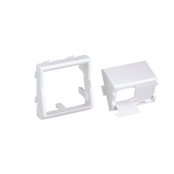CFPFS2SAW, Лицев модул 45x45 за два MiniCom конектора с капачки