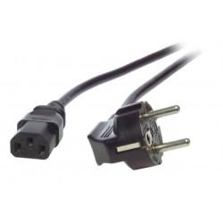 EK504.0.5, Захранващ кабел Schuko - C13 0.5m черен EFB