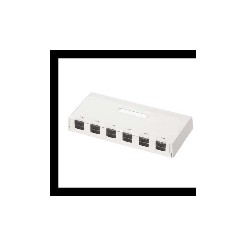 CBXS6AW-AY, Розетка празна за 6 Mini-Com® Modules