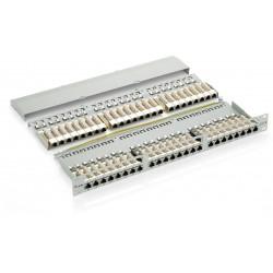 326348, Пач панел 48 порта FTP Cat.6, Equip сив
