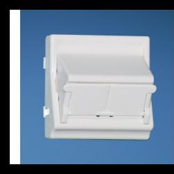 NKFS2SAW, Лицев модул 45x45 за два NetKey конектора