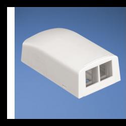 NK2BXIW-A, NetKey® surface mount box accepts two keystone Modules
