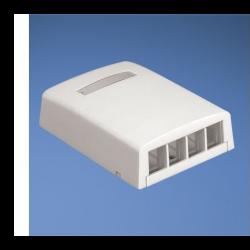 NK4BXIW-AY, Розетка 4x, повърхностен монтаж празна, Netkey