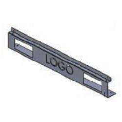 LN-KDG-60C-BL, Декоративен преден панел за DYNAPRO сърв. шкаф