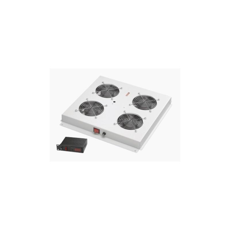 LN-FAN-THD-4FFS-LG, Вент. модул 4-ка с цифр.терм. за freestand шкаф