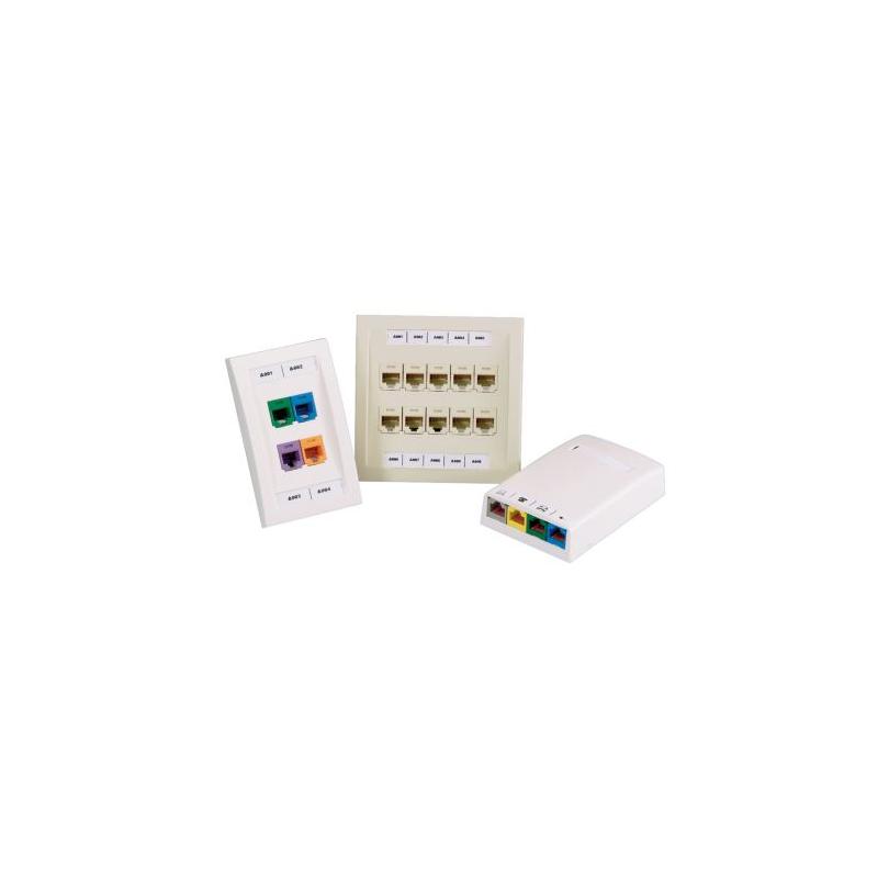 C252X030FJC, White, adhesive polyolefin label, 125/cassette, Mini-Com ® 4-port identifier