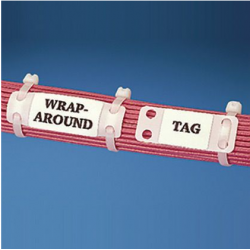 "MP250-C, Harness Identification Marker Plate, 2.50"" x 0.75""(63.5mm x 19.1mm), white, standard package."