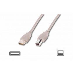 AK-300102-018-E, USB кабел A-B M/M 1.8m Assmann
