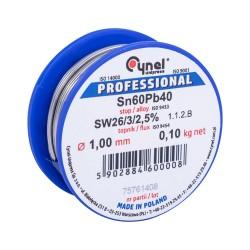 LC60-1.00/0.1, Тинол - Свързв.в-во SN60Pb40 1.0mm, 0.1kg