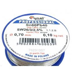 LC60-0.70/0.1, Тинол - Свързв.в-во SN60Pb40 0.7mm, 0.1kg