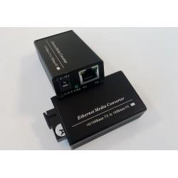 YiAN-MC-BiDi20, Мини медия конвертор 10/100, SM, Single fiber