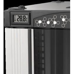 """LN-CK22U6010-BL, LANDE_CK, 22U 19"""" Server Glass.Doors 600x1000mm, Сървърен комуникационен шкаф (rack), термометър"""