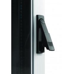 "LN-CK22U6010-BL, LANDE_CK, 22U 19"" Server Glass.Doors 600x1000mm, Сървърен комуникационен шкаф (rack), ключалка"