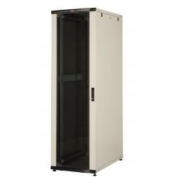 """LN-CK26U6010-BL, LANDE_CK, 26U 19"""" Server Glass.Doors 600x1000mm, Сървърен комуникационен шкаф (rack)"""