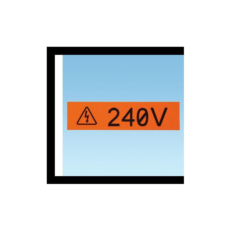 T050X000VUC-BK, P1 Cassette tape 12.7mm vinyl, 7.6m orange