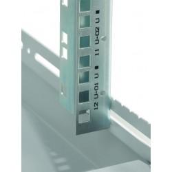 """LN-CK26U6010-BL, LANDE_CK, 26U 19"""" Server Glass.Doors 600x1000mm, Сървърен комуникационен шкаф (rack), шини"""
