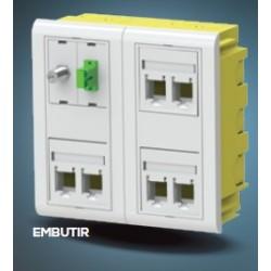Кутия за 4 модула 45x45 монтаж под мазилка JSL, CE445