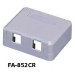 FA-852CR, Розетка двойна празна за UTP keystones, Full