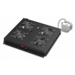LN-FAN-THM-4FFS-BL, Вент. модул 4-ка с термостат за freestan шкаф