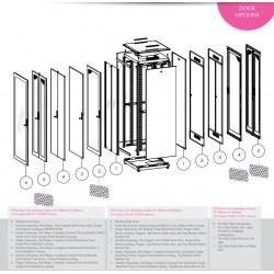"""LN-FS32U8080-CC-111, LANDE, 32U 19"""" Free Standing Cabinets 800x800mm"""