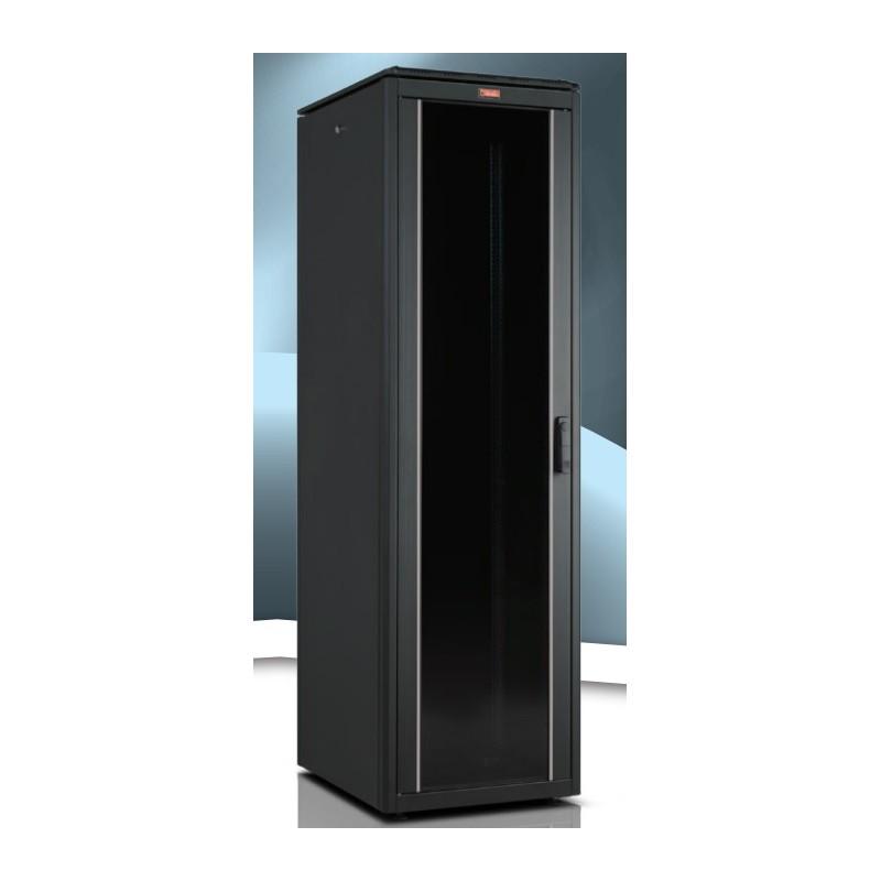 """LN-FS42U6010-BL-111, LANDE, 42U 19"""" FreeStand.Cab. Glass 600x1000mm"""