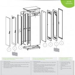 """LN-FS42U6080-BL-111, LANDE, 42U 19"""" Free Standing Cabinets 600x800mm"""