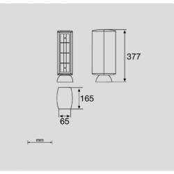 50723, Кула 8 гнезда 65 Grey RAL 7035 UNEX