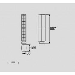 50743, Колона 16 гнезда 65 Grey RAL 7035 UNEX