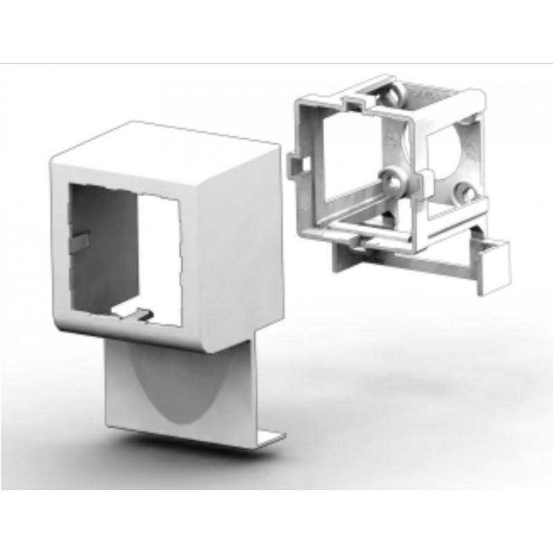 45IN17, Единична кутия за монтаж на канал 17мм - mosaic
