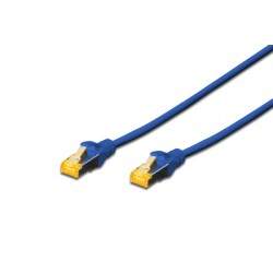 DK-1644-A-020/B, Пач кабел Cat.6A 2m SFTP син, Assmann
