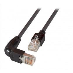 K0993.3, Пач кабел Cat.5e 3m FTP черен 90C, EFB