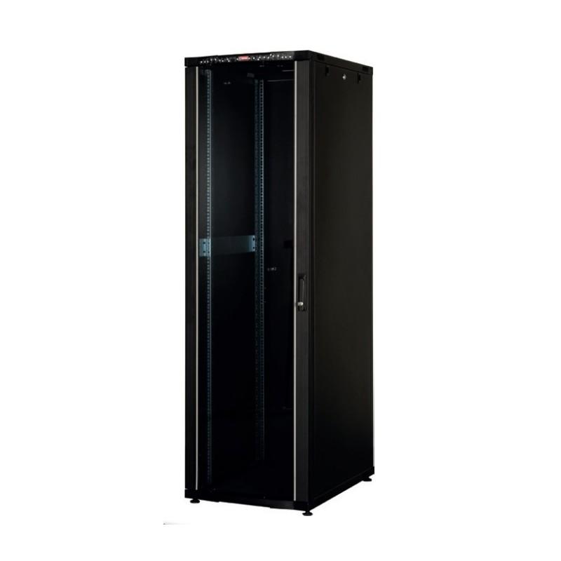 """LN-CK36U6010-BL, LANDE_CK, 36U 19"""" Server Glass.Doors 600x1000mm, Сървърен комуникационен шкаф (rack)"""