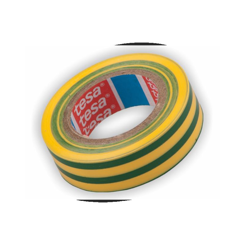 TESA-4252-15GY, Изолирбанд Tesa 10m жълто-зелен