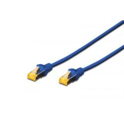 DK-1644-A-005/B, Пач кабел Cat.6A 0.5m SFTP син, Assmann