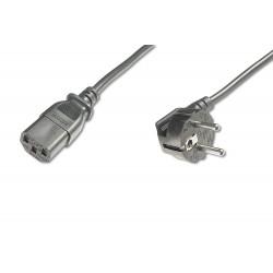 AK-440100-025-S, Захранващ кабел Schuko 90C angled - C13 2.5m
