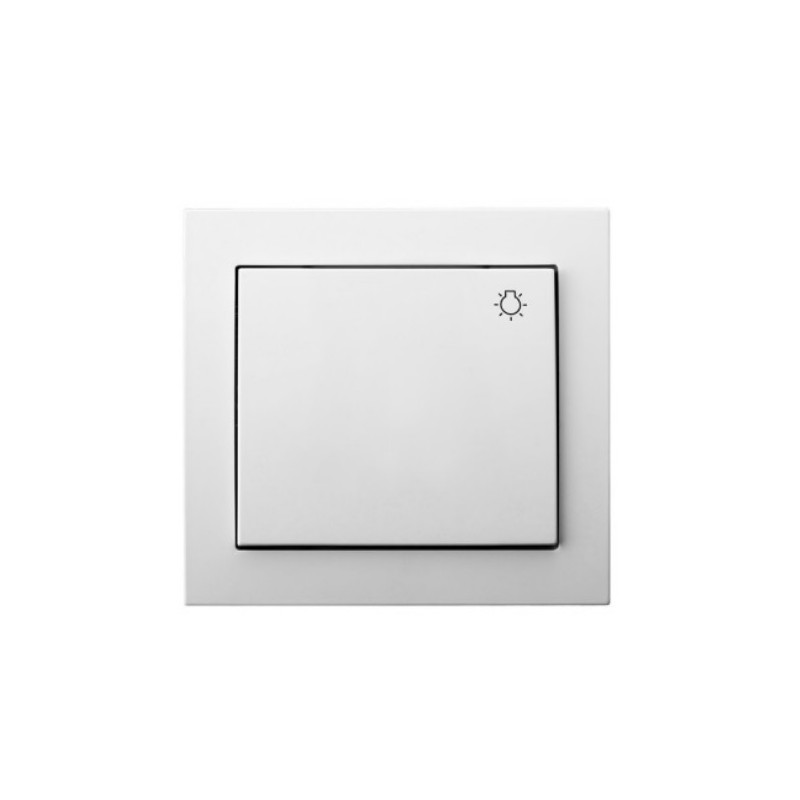 LP-5W/00, Ключ бутонен с рамка, бял, Ospel - KIER