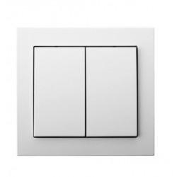 LP-10W/00, Ключ сериен с рамка, бял, Ospel - KIER
