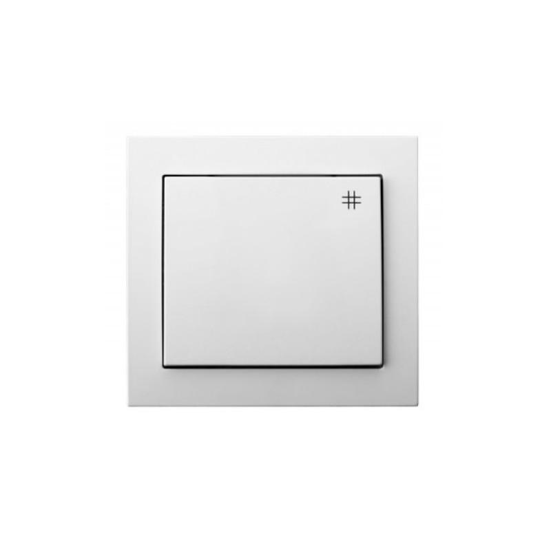 LP-4W/00, Ключ кръстат с рамка, бял, Ospel - KIER