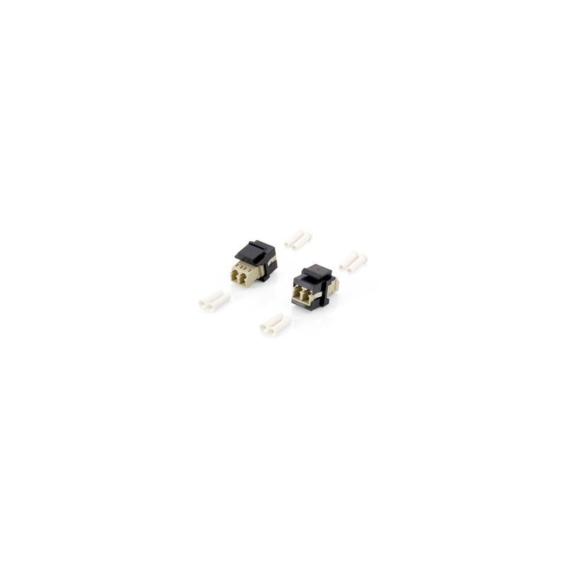 125570, Keystone адаптер LC дуплекс ММ, черен