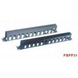 """PBPP31A, 19"""" 1U Аранжиращ панел метален канал, TG"""